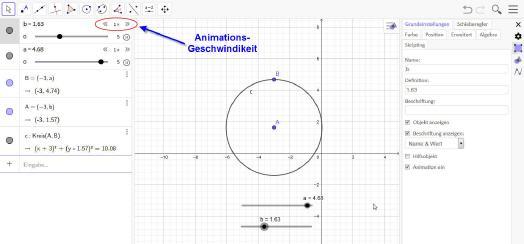 Bewegung In Geogebra